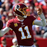Nov 11, 2018; Tampa, FL, USA; Washington Redskins quarterback Alex Smith (11) attempts a pass against the Tampa Bay Buccaneers during the first half at Raymond James Stadium. Mandatory Credit: Jasen Vinlove-USA TODAY Sports | NOV 11, 2018; TAMPA, FL, USA; WASHINGTON REDSKINS QUARTERBACK ALEX SMITH (11) ATTEMPTS A PASS AGAINST THE TAMPA BAY BUCCANEERS DURING THE FIRST HALF AT RAYMOND JAMES STADIUM. MANDATORY CREDIT: JASEN VINLOVE-USA TODAY SPORTS NFL: WASHINGTON REDSKINS AT TAMPA BAY BUCCANEERS