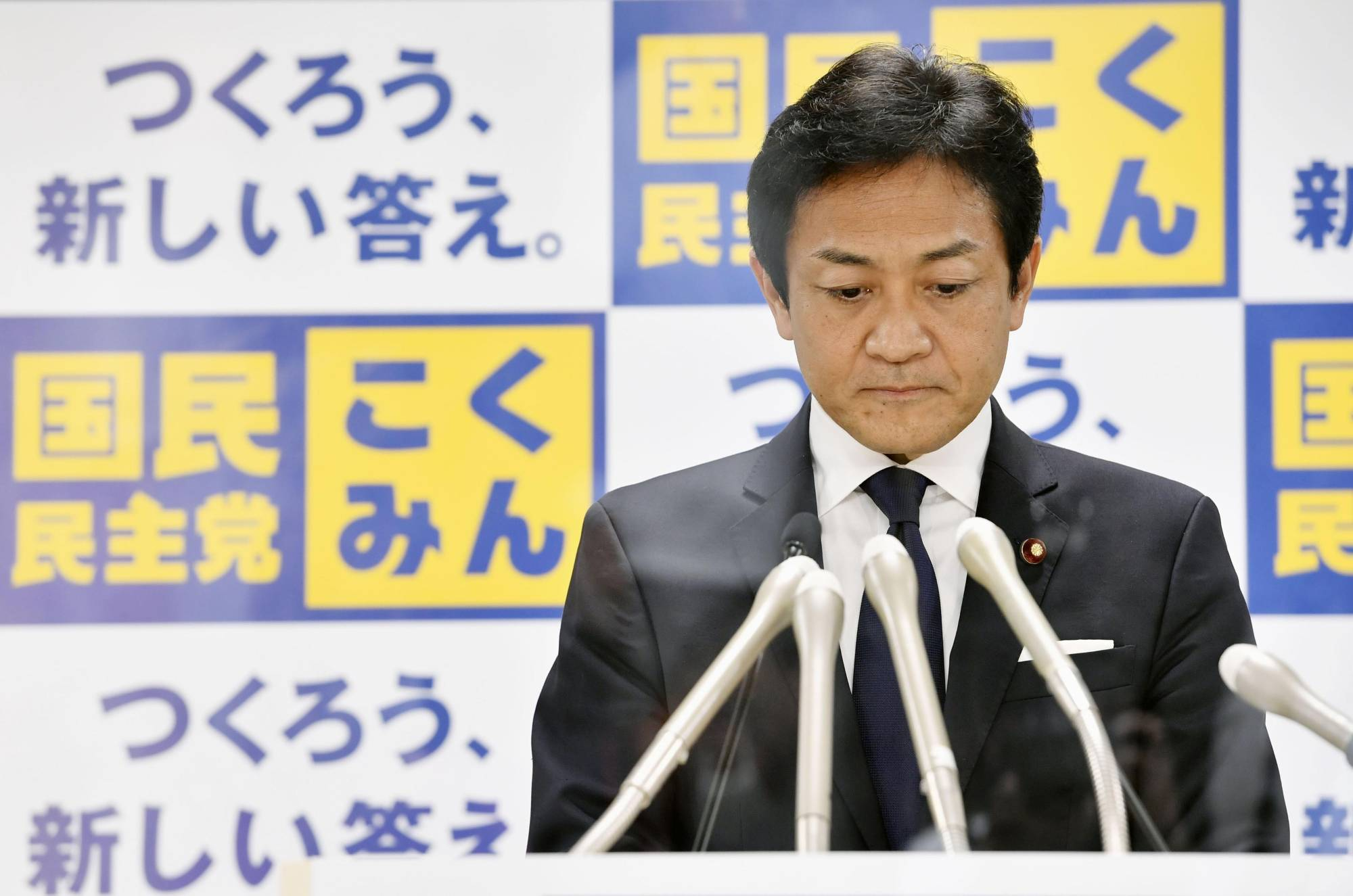 Yuichiro Tamaki, head of the Democratic Party for the People, said he would not be among the members going forward with a merger with the Constitutional Democratic Party of Japan. | KYODO