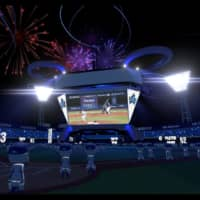 The view from the field is shown in a rendering of 'Virtual Hamasuta.'' | COURTESY OF YOKOHAMA DENA BAYSTARS, KDDI