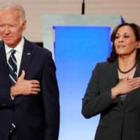 Kamala Harris' enthusiastic embrace of police reform in the months since protests sparked by the death of George Floyd in police custody may have helped inoculate the Joe Biden campaign against criticism of her prosecutorial record.  | REUTERS