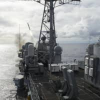 Japanese strategists and LDP Diet members are considering the acquisition of Tomahawk cruise missiles with a range of about 1,300 km that could strike targets in North Korea as well as China. | U.S. NAVY