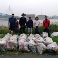 Eco warriors: Tokyo River Friends meets regularly to pick up trash along rivers by Tokyo Bay. | COURTESY OF TOKYO RIVER FRIENDS