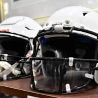 Wearing a helmet with a mouth shield will be mandatory in the X League this season. | HIROSHI IKEZAWA