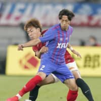 Tokyo defender Sei Muroya (right) will join Germany's Hannover on a free transfer, both clubs announced on Friday. | KYODO