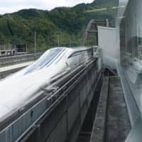 A prototype maglev train is unveiled to the media at Central Japan Railway Co.'s  'laboratory' in Tsuru, Yamanashi Prefecture, in October 2019. | TOKYO