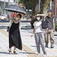 The city of Hamamatsu, Shizuoka Prefecture, reported a record high of 41.1 degrees on Monday.  | KYODO
