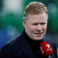 Netherlands' coach Ronald Koeman speaks to the media before a Euro 2020 qualifying match against Northern Ireland on Nov. 16, 2019, in Belfast, Northern Ireland.  | DAVID KLEIN / FILE PHOTO VIA REUTERS
