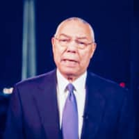 Former U.S. Secretary of State Colin Powell speaks during the virtual Democratic National Convention on Tuesday.  | BLOOMBERG