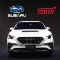 A Subaru Corp. Levorg Sti Sport prototype is displayed at the Tokyo Auto Salon in Chiba in January. | BLOOMBERG