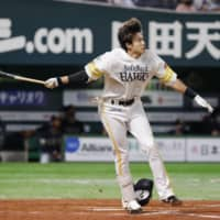 Hawks outfielder Yuki Yanagita is one of NPB's most exciting players. | KYODO