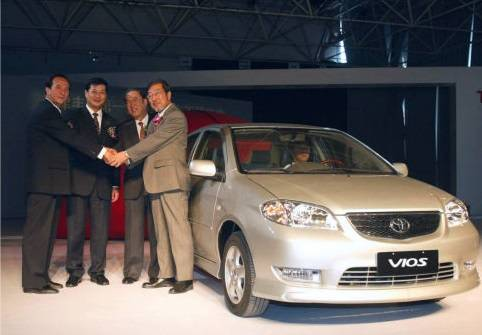 Toyota Motor Corp., in a joint venture with Tianjin FAW Xiali Corp., saw passenger car production begin in China in 2002. | KYODO