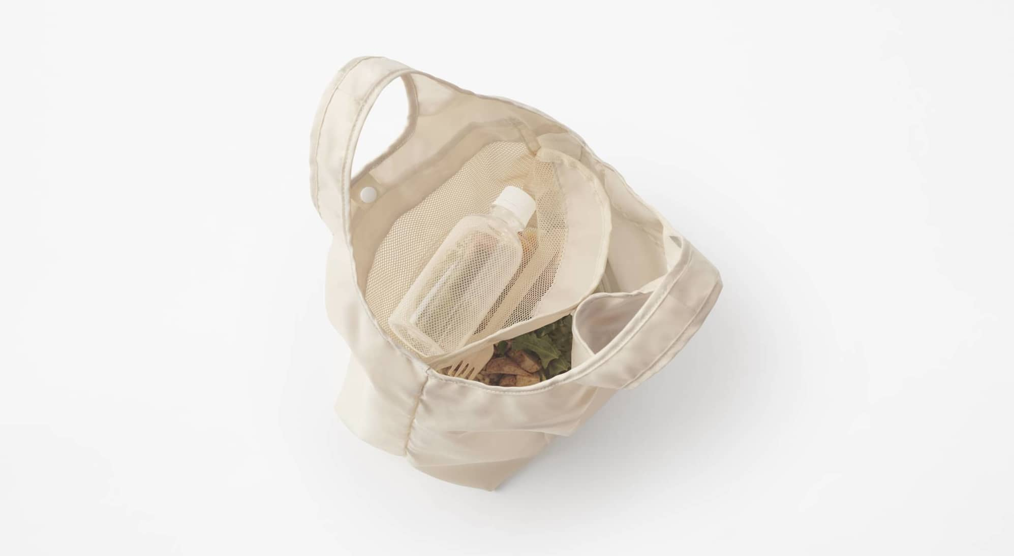 A convenient carryall: Nendo's Duo Ecobag has a mesh top layer to keep items from crushing each other.   AKIHIRO YOSHIDA