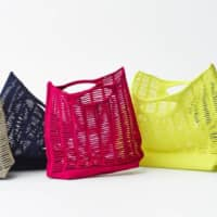 Designer basket: Good Goods Issey Miyake's August release, the Mokko, is tightly knitted from a single polyester and nylon thread.