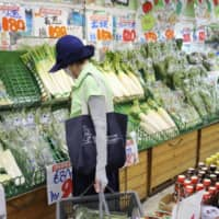 Vegetable prices are higher than regular years this month due to a lack of sunny weather as the rainy season dragged on. | KYODO