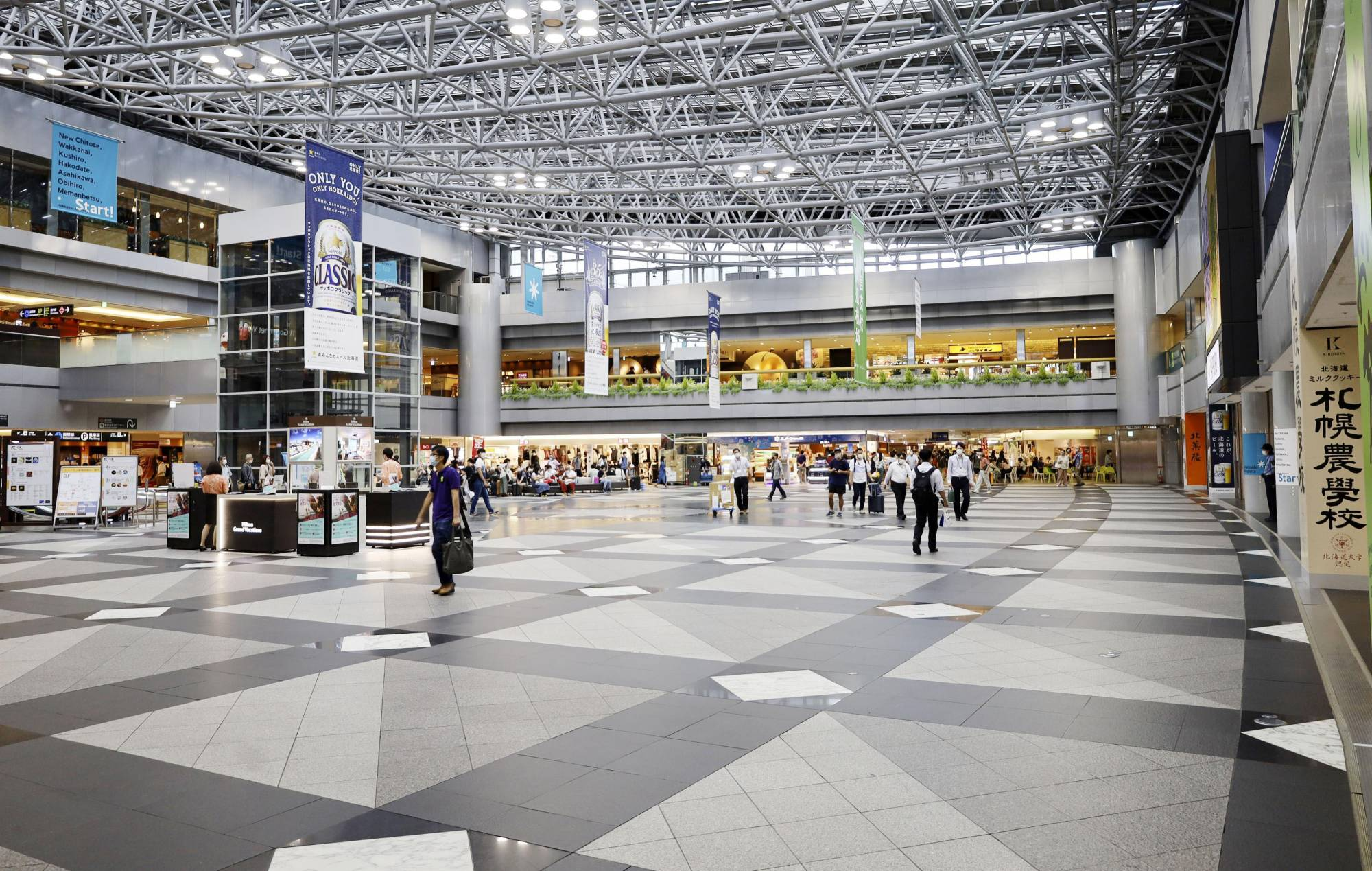 New Chitose Airport in Hokkaido appears mostly empty during the Bon holidays earlier this month. | KYODO