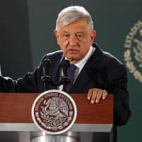 How Mexican President Andres Manuel Lopez Obrador handles allegations of corruption against his brother will weigh on his party's prospects of holding onto a majority in the lower house of congress in elections next year. | AFP-JIJI