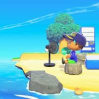 The Tokyo Fire Department's Twitter account shows an image of 'Bosai Jima' set in Nintendo Co.'s Animal Crossing: New Horizons to demonstrate disaster prevention measures.   KYODO