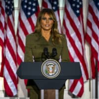 Melania Trump offers sympathy on coronavirus and racial suffering in speech