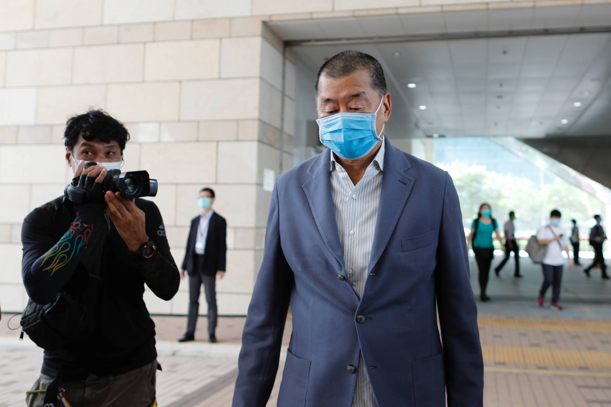 Media mogul Jimmy Lai founder of Apple Daily, arrives West Kowloon Magistrates' Courts to facing a criminal intimidation charge last week. | REUTERS