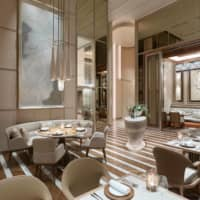 The interior of Est, opening in Four Seasons Hotel Tokyo at Otemachi on Sept. 1 | COURTESY OF FOUR SEASONS HOTEL TOKYO AT OTEMACHI