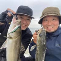 Hook, line and skewer: All-star chefs and fishing buddies Zaiyu Hasegawa (right) and Hiroyasu Kawate are pooling their talents and cuisines to open a new restaurant, Denkushiflori, this fall. | COURTESY OF DENKUSHIFLORI