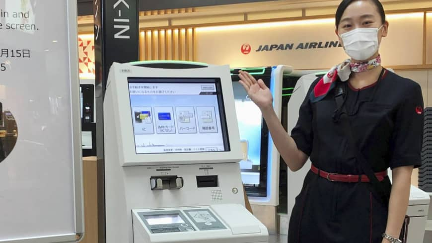 Japan Airlines tests touchless check-in kiosks at Haneda to ease coronavirus concerns