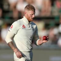 Ben Stokes participates in England's fourth test against South Africa on Jan. 25 in Johannesburg. | REUTERS