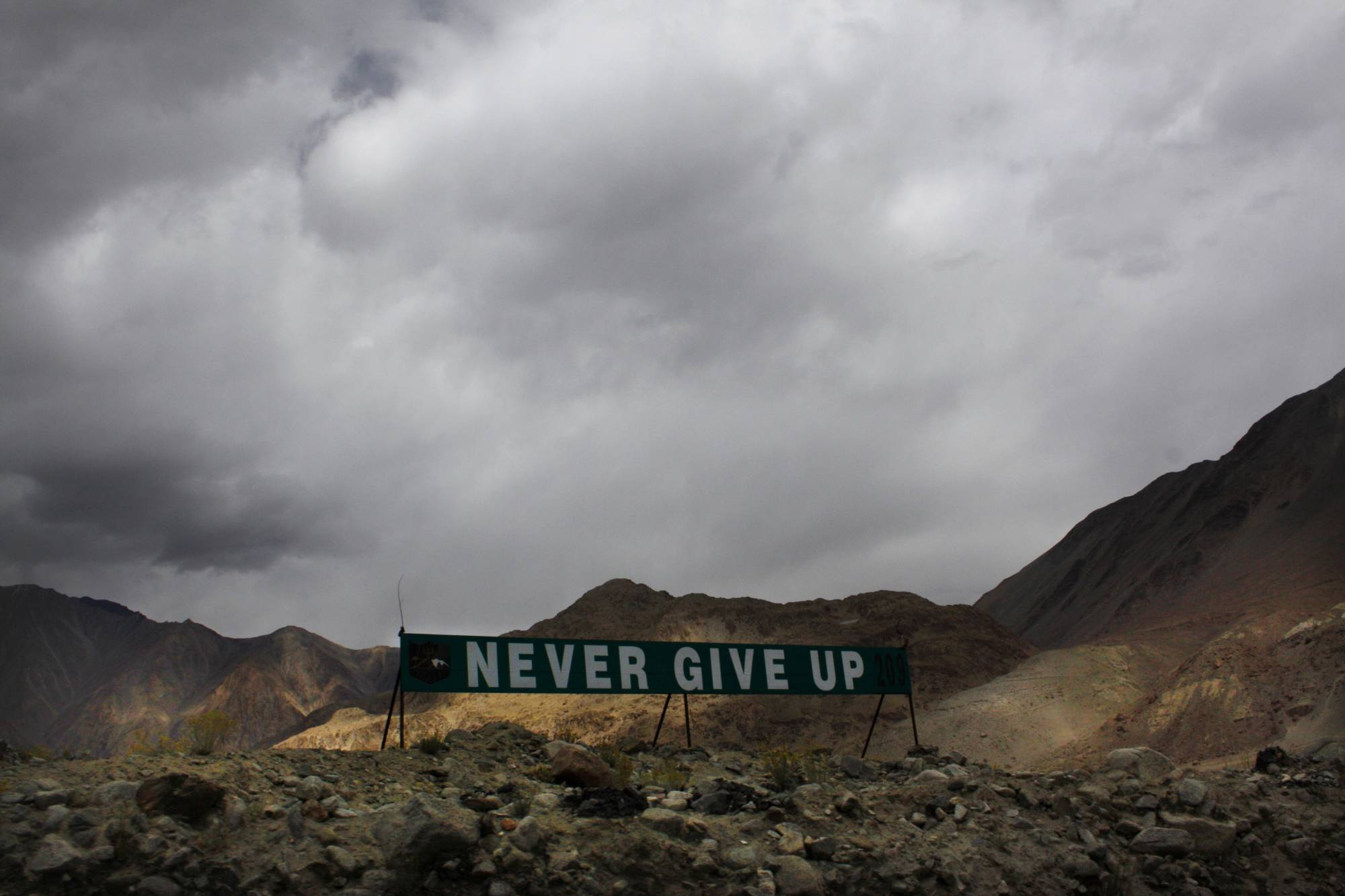 A banner erected by the Indian Army stands near Pangong Tso lake near the India-China border in India's Ladakh area. | AP