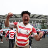 Fifty-four-year-old Hiroshi Moriyama, aka 'Bak-san,' has been a fixture at rugby games in Japan for years. | REUTERS