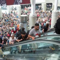Visitors enter Anime Expo in Los Angeles in 2019.   DOMAIN PHOTOGRAPHY