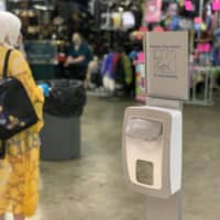 Hand sanitation stations were set up throughout the Collective Con venue for attendees. | COURTESY OF TOM CROOM