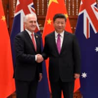 Chinese President Xi Jinping greets Australia's then-Prime Minister Malcolm Turnbull ahead of the G20 Summit in China in 2016. | REUTERS