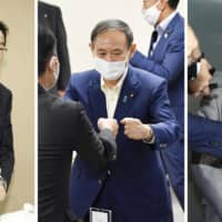 Suga, Kishida and Ishiba hold first public faceoff as LDP race officially begins