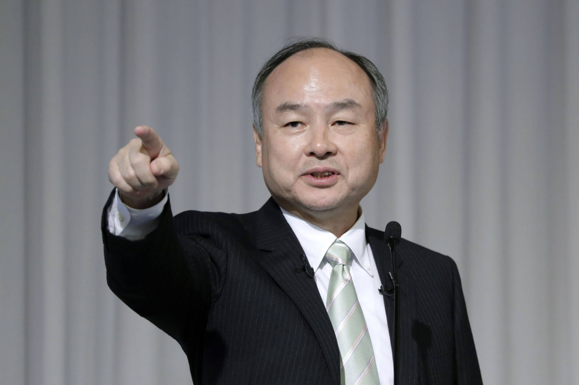 Masayoshi Son's foray into highly leveraged derivatives is giving investors for SoftBank Group fresh reason to worry. | BLOOMBERG