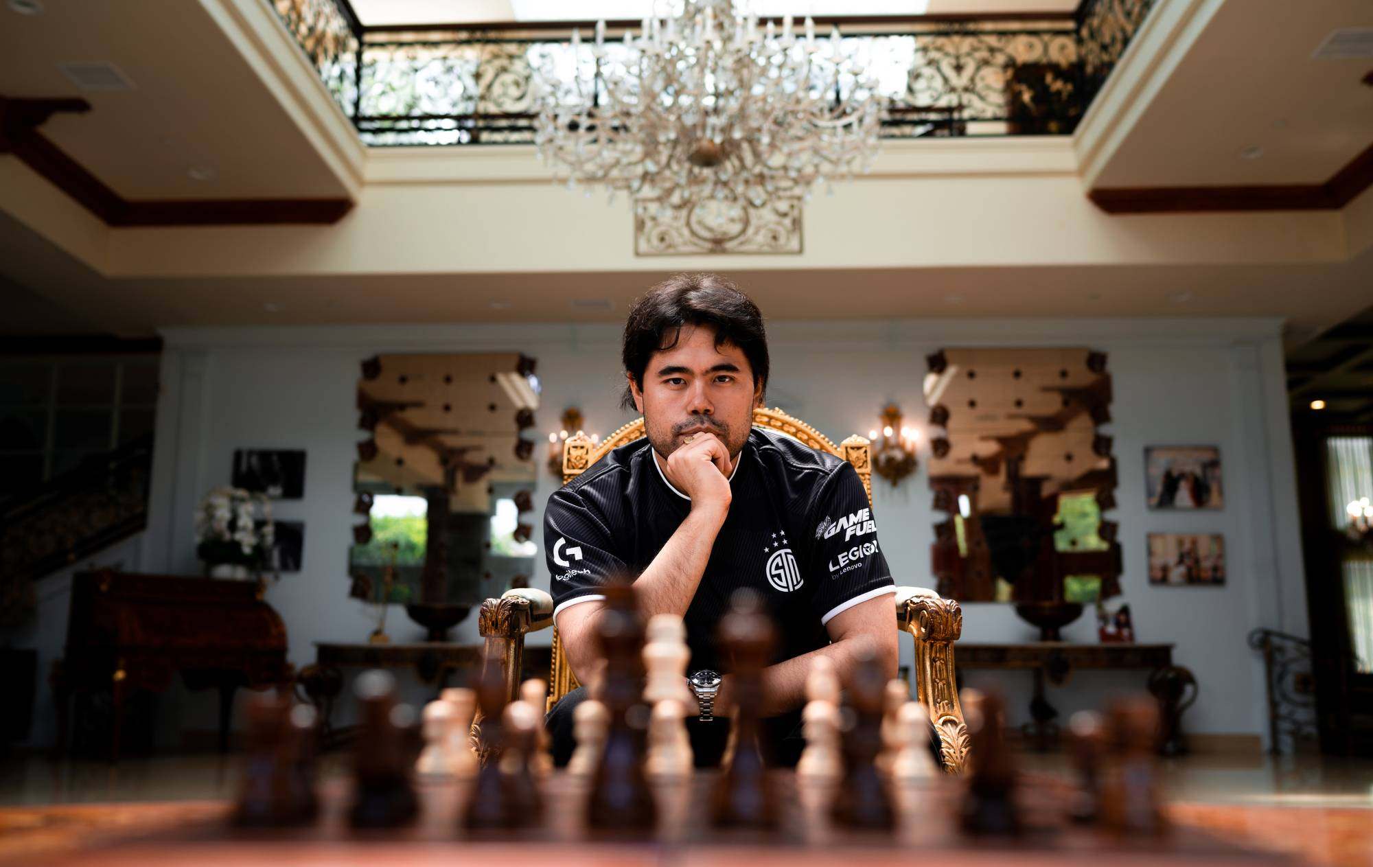 Nearly all of chess grandmaster Hikaru Nakamura's 528,000 followers on Twitch have come aboard since the pandemic began.  | THOMAS WEHLE / TSM / VIA THE NEW YORK TIMES