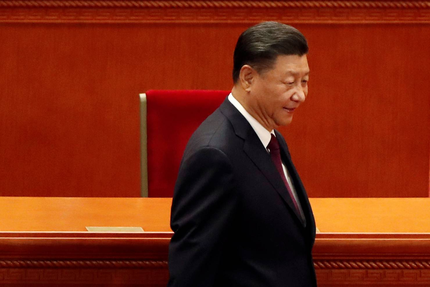 Chinese President Xi Jinping arrives for a meeting Tuesday at the Great Hall of the People in Beijing. | REUTERS