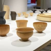 Contemporary curves: Yamanaka shikki wood-turned bowls, plates and vases at the clothing store Iki in Nakameguro. | COURTESY OF JAPAN TRADITIONAL CRAFTS DENSAN
