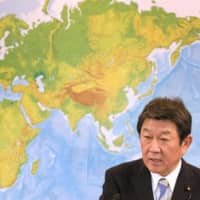 By retaining Toshimitsu Motegi as foreign minister, Suga will have a veteran Abe Cabinet member to lean on to handle issues such as Japan's relationships with the U.S., China and the two Koreas. | AFP-JIJI