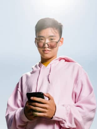 Justin Zheng, 19, one of the founders of Gen Z Mafia: 'Yeah, we build some meme products, but we also build mission-driven things. We want to build a more positive internet, things that help people.' | JASON HENRY / THE NEW YORK TIMES