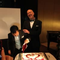 We do: Bob Tobin and Hitoshi Ohashi celebrate in Tokyo five years ago after they were able to get married in the United States.  | COURTESY OF BOB TOBIN