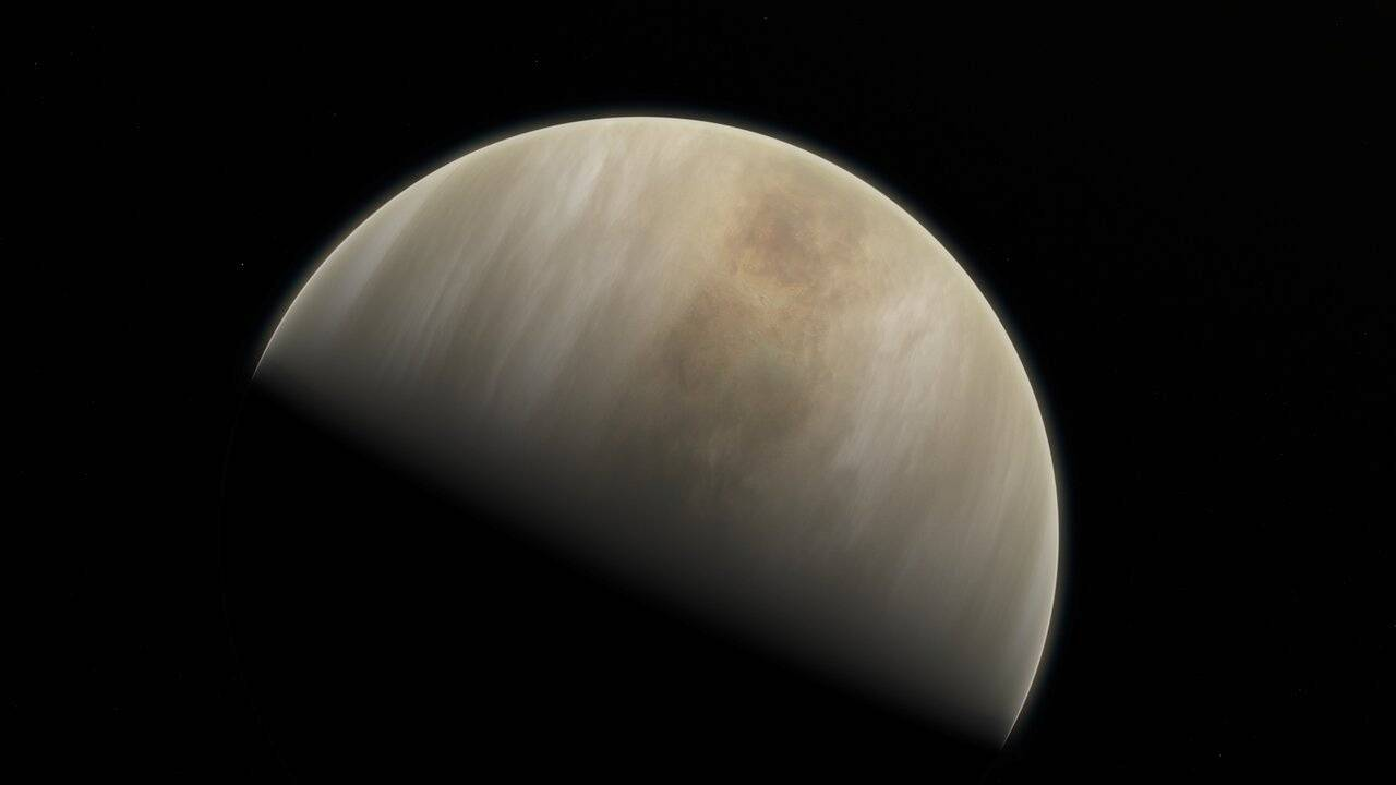 An artistic impression depicts Venus, where scientists have confirmed the detection of phosphine molecules. | ESO / M. KORNMESSER & NASA /JPL / CALTECH / VIA REUTERS