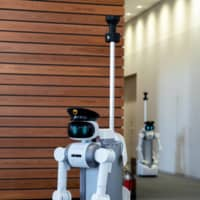 Mira Robotics Inc.'s ugo robot features a pair of height-adjustable industrial arms mounted on wheels and is designed to assist the country's shrinking and graying workforce.  | COURTESY OF MIRA ROBOTICS INC.