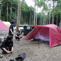 Japanese campsites draw crowds as people look to escape pandemic