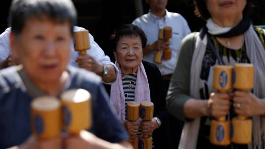 Older people account for record 28.7% of Japan's population