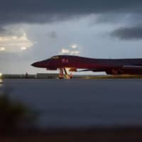 A U.S. Air Force B-1B bomber prepares to take off from Andersen Air Force Base on the territory of Guam on Sept. 23, 2017.  | U.S. AIR FORCE