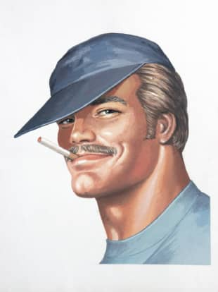 'Portrait of Pekka' (1975), an illustration by Tom of Finland for the cover of 'Sex in the Shed' | © 1947-2020 TOM OF FINLAND FOUNDATION