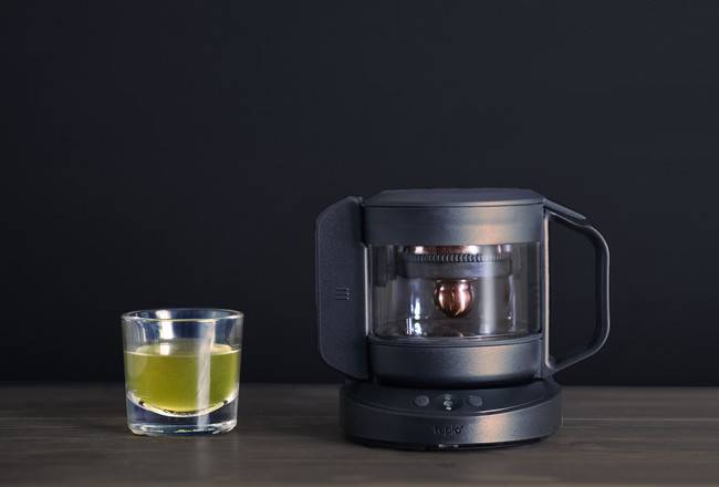 Tea time: The smart Teplo Teapot measures your pulse and temperature, plus ambient humidity, luminance and even noise level, to customize your cup of tea to your physical condition.  