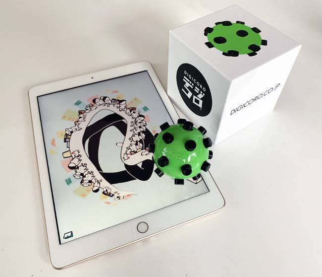 Touchable tech: Digicoro combines the creativity of analog toys with on-screen apps to help enrich childrens' play indoors.