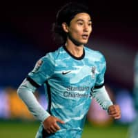 Takumi Minamino scores twice for Liverpool in League Cup