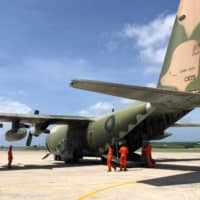 A C-130 transport aircraft at Makung Air Force Base on Taiwan's offshore island of Penghu | REUTERS